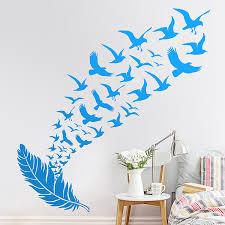 Wall Sticker Flock Of Birds Muraldecal Com