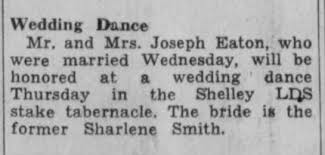 Sharlene Smith and Joseph Eaton wedding dance - Newspapers.com
