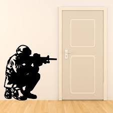 Army Soldier Wall Sticker Kids Military Boys Bedroom Soldiers Stickers Art Vinyl Vinilos Dormitorios Ejercito