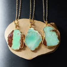 chrysoprase natural stone pendants