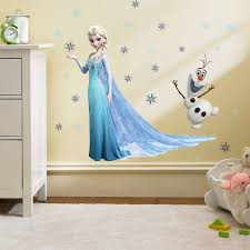 Snow Queen Aurora Princess Window Wall Stickers For Kids Room Home Decoration Cartoon Mural Art Girls Wall Decals Wallcorners Art Canvas