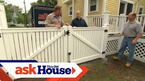 How To Install A Vinyl Privacy Fence Ask This Old House Youtube