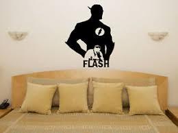 The Flash Superhero Hero Fan Children S Bedroom Decal Wall Art Sticker Picture Ebay