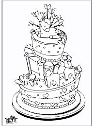 Feesttaart Kleurplaten Verjaardag