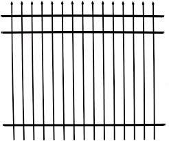 Specrail Diy Rr1483bl Branford Aluminum 3 Rail Fence Panel 48 Inch By 6 Feet Amazon Ca Patio Lawn Garden