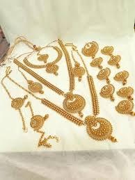 traditional bridal jewelry set द ल हन