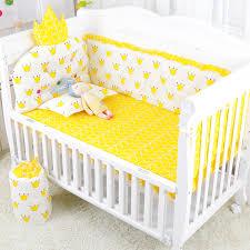 5pcs set grey baby crib bedding set