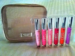 lip gloss gift set in mesh bag