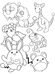 Pokemon Paradijs Marill Coloring Pages Tekawe