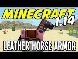 leather horse armor minecraft 1 14