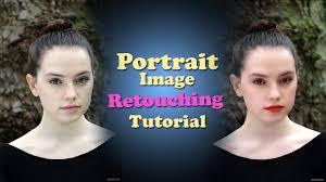 portrait retouching tutorial in