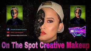 on the spot creative makeup you