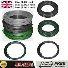 Fence Panels 5ft 8ft Garden Pvc Chain Link Fence Fencing Roll Galvanized Steel Straining Wire Barnfieldcars Co Uk