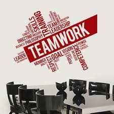 Diy Inspirational Vinyl Wall Decal On Teamwork For Office Or Bedroom Wall