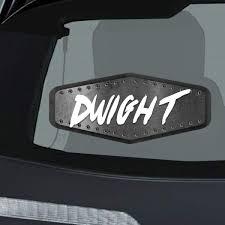 Amazon Com Dwight Male Name Car Magnet Magnetic Bumper Sticker 3 5x8 Or 4 5x10 Inc Automotive