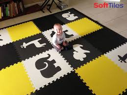 Safari Animal Play Mat Children S Foam Tiles In Black Gray White Yellow D128 Kids Playroom Flooring Safari Playroom Playroom Flooring