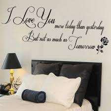 Love You Quote Wall Sticker Living Room Mural Bedroom Gift Large Wall Stickers Living Room Master Bedroom Wall Decor Living Room Quotes