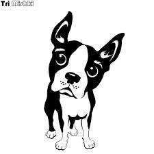 Tri Mishki Hzx684 17x10cm Dog Boston Terrier Puppy Car Sticker Auto Windscreen Vinyl Decals Accessories Car Sticker Car Stickers Aliexpress