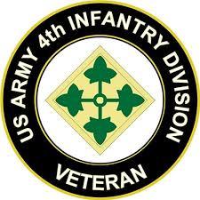 Amazon Com U S Army 4th Infantry Division Veteran Window Bumper Sticker Decal 3 8 Automotive