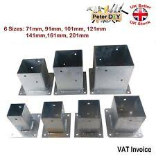 Bolt Down Post Support 75 X 75mm 3 Square Clamp Fence Galvanized Steel For Sale Ebay