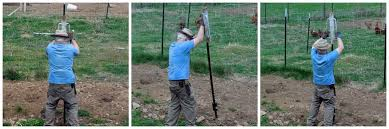 Putting Up Fence And Building A Gate No Deer Will Dig In To Gaden