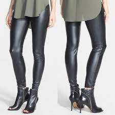 leatherette leggings w zippers size xs