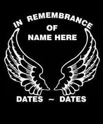 In Loving Memory Angel Wings Decal Sticker Midwest Sticker Shop