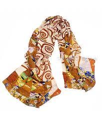 the expectation klimt silk art scarf