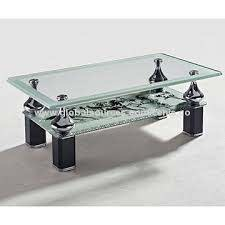 coffee table small tempered glass