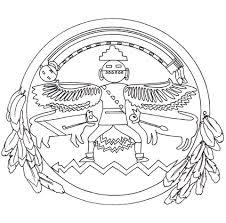 Inheems Amerikaanse Mandala Kleurplaat Gratis Kleurplaten Printen