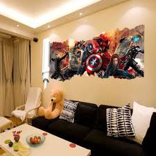Amazon Com Wall Decals For Kids Rooms Boys Skateboard Dc Comics Marvel The Avengers Wall Sticker Team Hulk Decal Decoration Wallpaper Arts Crafts Sewing