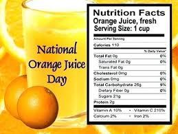 tropicana orange juice label
