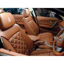 brown leather car seat cover at rs 3500