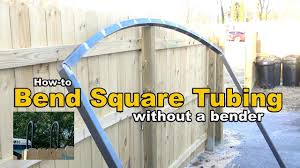 How To Bend Square Tubing Without A Bender Metal Fabrication Youtube