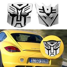 For Car 3d Logo Sticker Autobot Transformers Emblem Badge Adhesive Decal Hot Ebay