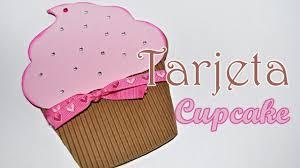 Diy Tarjeta Cupcake Para Cumpleanos Brotes De Creatividad Youtube