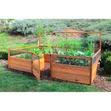 Cedar Complete Raised Garden Bed Kit 8 X 12 Garden Beds Raised Garden Raised Garden Bed Plans