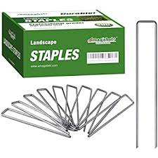 Amazon Com 100 6 Inch Garden Landscape Staples Stakes Pins Usa Strong Pro Quality Built To Last Weed Barrier Fabric Ground Cover Soaker Hose Lawn Drippers Irrigation Tubing Wireless Invisible Dog Fence