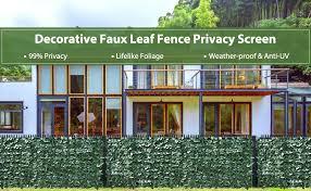 118 X 39 Artificial Hedges Fence And Faux Ivy Vine Leaf Decoration For Outdoor Garden Porch Patio Lvydec Artificial Ivy Privacy Fence Screen Decorative Fences Outdoor Decor