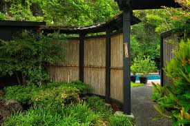 Bamboo Growth Rate With Asian Landscape Also Asian Bamboo Fence Boulders Covered Path Gate Japanese Garden Lush Garden Path Patio Pool Shingle Roof Tall Grasses Finefurnished Com