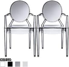 juego de 2 sillas modernas fantasma con
