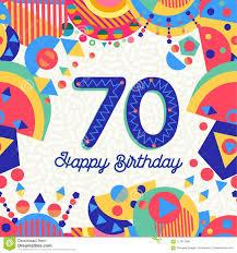 70 Tarjeta De Felicitacion De La Fiesta De Cumpleanos De Setenta