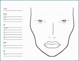 free printable blank makeup face charts