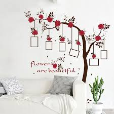 Sk9086 Rose Flowers Tree Photo Frame Wall Stickers Tree Branches Wall Decals For Kids Rooms Birds Wall Art Home Decor Cheap Decals For Walls Cheap Removable Wall Decals From Fst1688 12 91 Dhgate Com