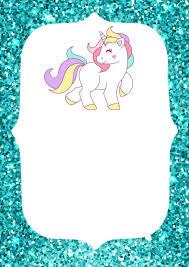 Invitaciones De Unicornio Para Imprimir Invitacion De Unicornio