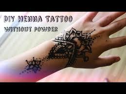 diy henna tattoo without henna powder
