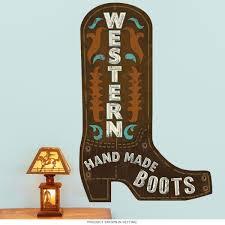 Western Cowboy Boots Cutout Wall Decal At Retro Planet