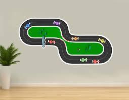 Zoomie Kids Car Circuit Wall Decal Wayfair