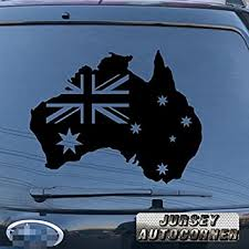Flag Of Australia Australian Map Outline Car Decal Sticker Auto Parts And Vehicles Car Truck Graphics Decals Sticker Naqsh Com
