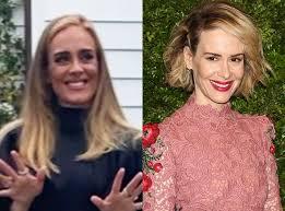 Sarah Paulson on What She Thinks of Those Adele Look-Alike ...